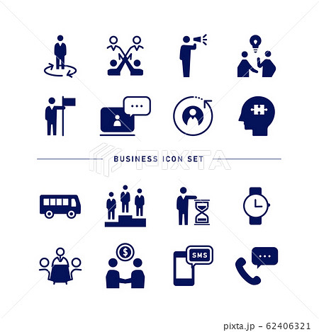 BUSINESS ICON SET 62406321