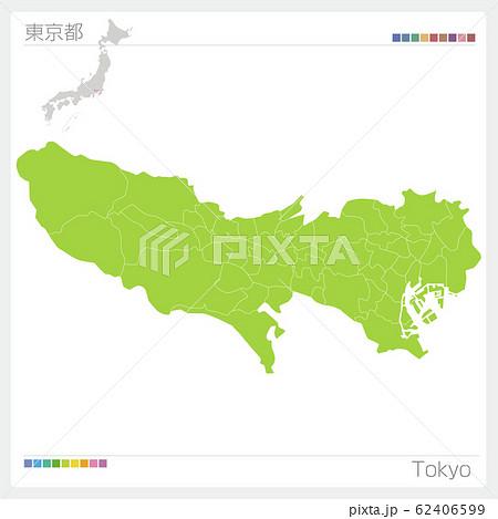 東京都の地図・Tokyo(市町村・区分け) 62406599