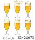 泡に動きのあるビール グラス 62428073