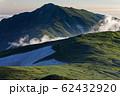 飯豊本山から見る夕刻の大日岳 62432920