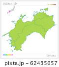 四国地方の地図・Shikoku(グリーン) 62435657