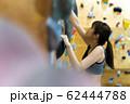 ボルダリング(若い女性、フィットネス、トレーニング 62444788