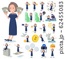 flat type Navy blue dress women_money 62455083
