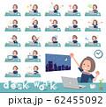 flat type Navy blue dress women_desk work 62455092