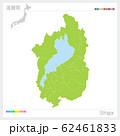 滋賀県の地図・Shiga(市町村・区分け) 62461833