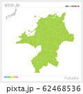 福岡県の地図・Fukuoka(市町村・区分け) 62468536