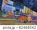 水彩画 風景画 アルゼンチの裏路地 62468542