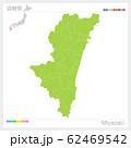 宮崎県の地図・Miyazaki(市町村・区分け) 62469542