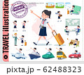 flat type school girl Sailor suit summer_travel 62488323