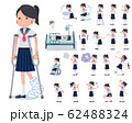 flat type school girl Sailor suit summer_sickness 62488324