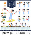 flat type school girl Sailor suit summer_cooking 62488339