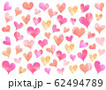 水彩ピンクハート_背景 62494789