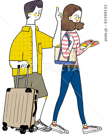 旅行カップル 夫婦 新婚旅行 62499532