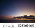 夕日 夕焼け ワイキキ ハワイ  perming 写真素材 62506405