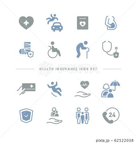 HEALTH INSURANCE ICON SET 62522038