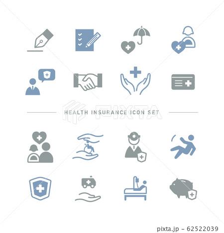 HEALTH INSURANCE ICON SET 62522039