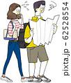 地図を広げる男性 迷う 62528554