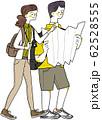 地図を広げる男性 62528555