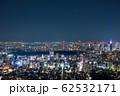 東京都の街並み夜景 都市夜景 (港区 新宿区 渋谷区 方面) 2020年2月 62532171