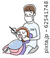イラスト素材:歯医者で治療を受ける女性 62541748