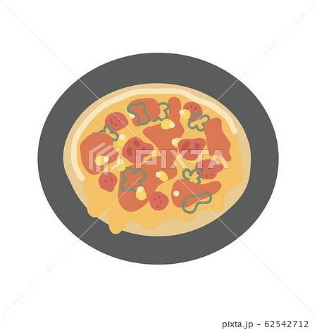 美味しそうなピザのイラスト 62542712