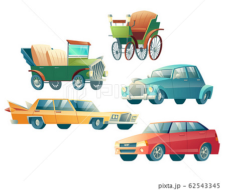 Modern and retro cars cartoon collection 62543345