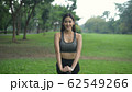 Exercise concepts. A beautiful woman exercising in 62549266