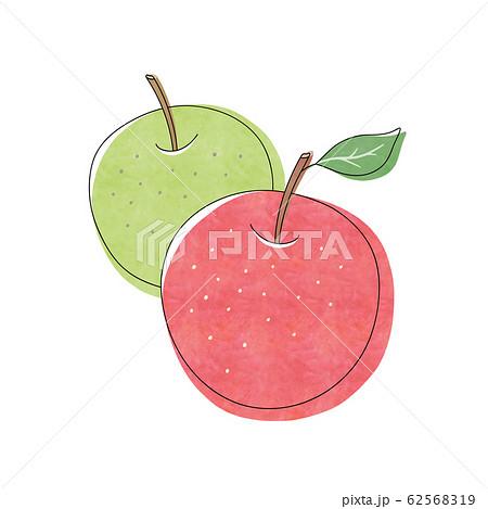赤りんごと青りんご 62568319