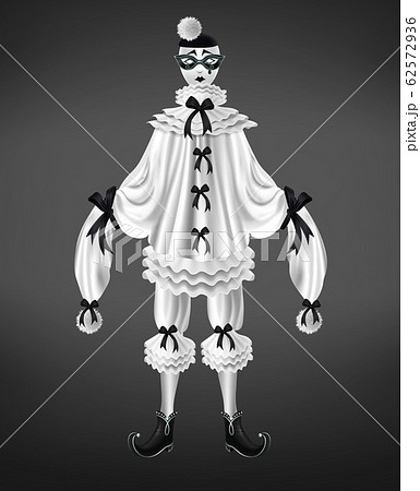 Sad and crying harlequin costume realistic 62572936