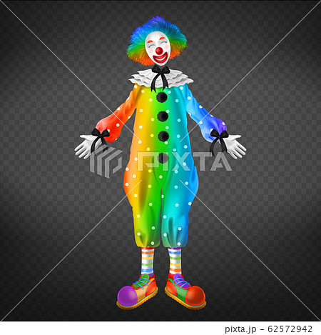 Clown in circus, party man, funny jester character 62572942