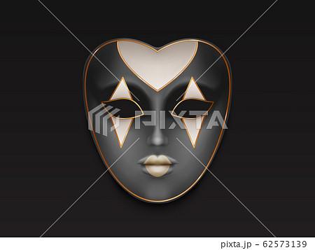 Female carnival full face mask realistic 62573139