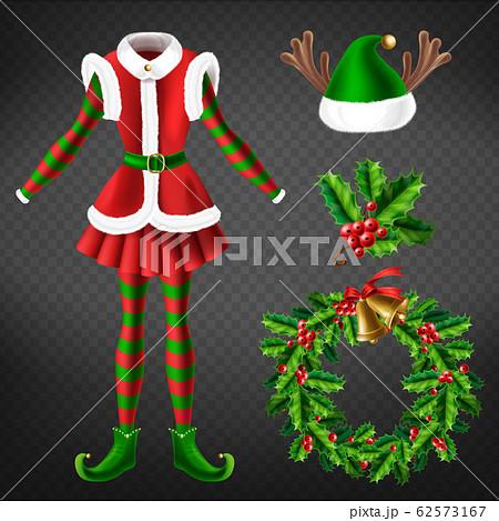 Christmas celebration attributes 3d set 62573167