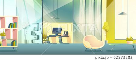 Office working cabinet cartoon interior 62573202