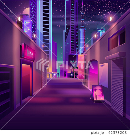 Night bar in modern metropolis cartoon 62573208