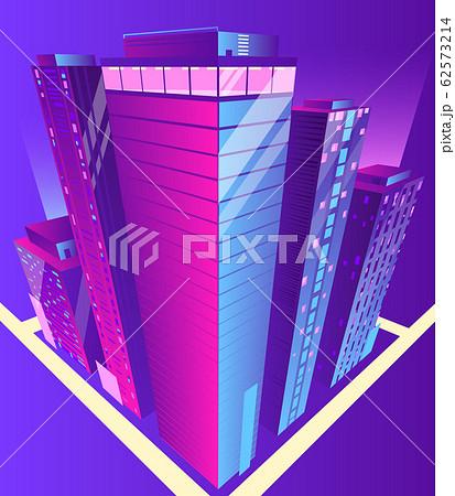 Modern skyscrapers buildings isometric 62573214