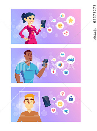 Cellphone using variant cartoon concept set 62573273