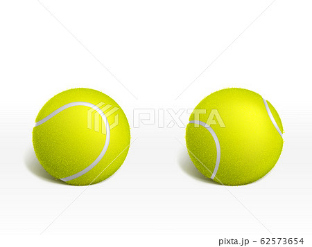 Tennis balls on white background realistic 62573654