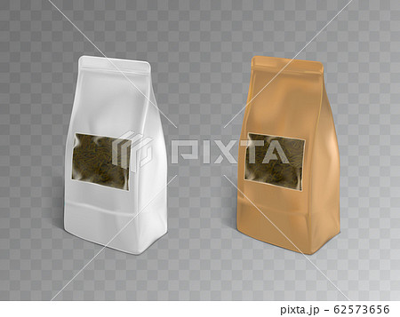 Tea packaging containers realistic mockup 62573656