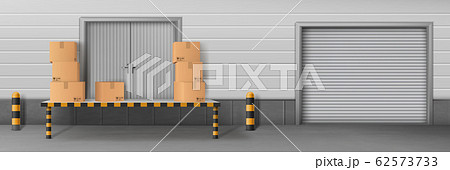 Business delivery warehouse closed entrance 62573733