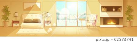interior of hotel bedroom, winter resort 62573741