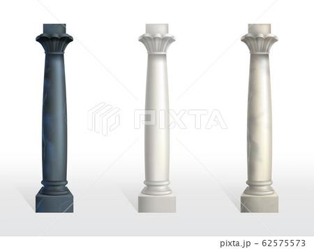 Color marble stone columns realistic set 62575573