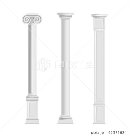 Antique columns from marble stone realistic 62575624