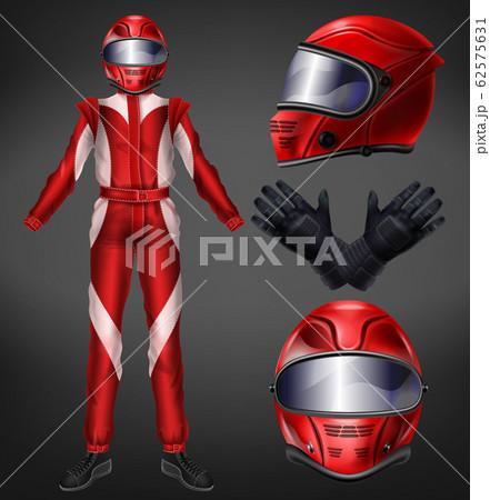 Auto race driver protective suit realistic 62575631