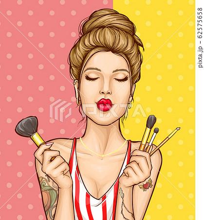 Makeup cosmetics ad poster template 62575658