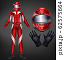 Racing driver suit elements realistic set 62575664