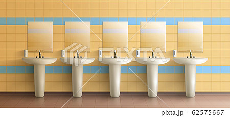 Public toilet interior realistic mock-up 62575667