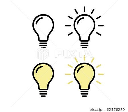 電球のアイコン/ピクトグラム/素材/電気 62576270