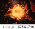 抽象的な円形の炎 62581740