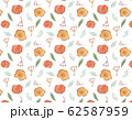 手描き水彩イラスト 花のパターンスウォッチ素材 62587959