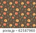 手描き水彩イラスト 花のパターンスウォッチ素材 62587960